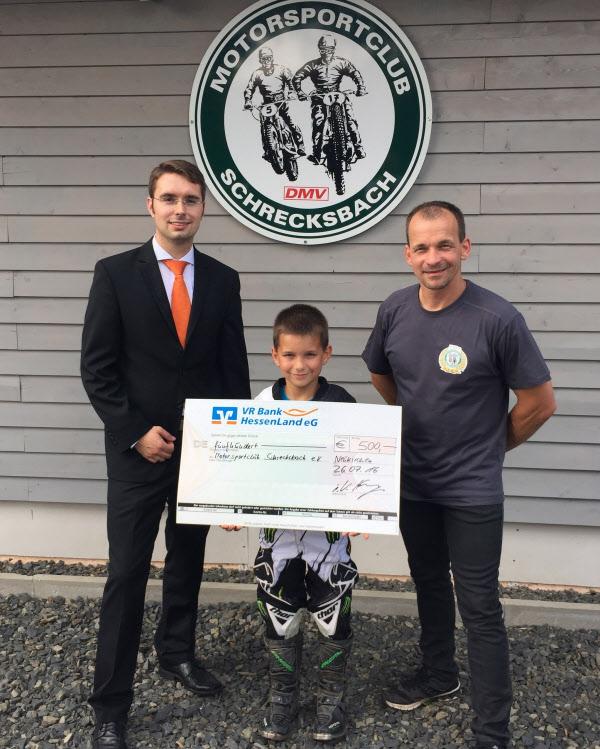 Spendenübergabe an den MCS Schrecksbach