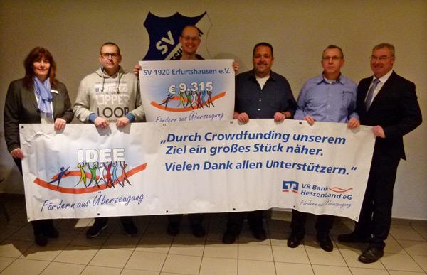 Spendenübergabe an SV 1920 Erfurtshausen
