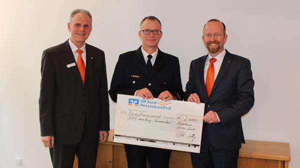 Spendenübergabe an den Kreisfeuerwehrverband Marburg-Biedenkopf
