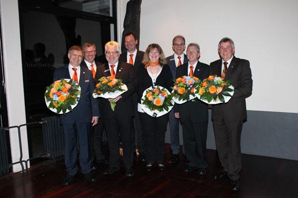 Helmut Klaner, Vorstand Werner Braun, Dr. Helmut Otto, Vorstand Ralph Kehl, Stefanie Kathrin Vincon, Vorstandsvorsitzender Helmut Euler, Helmut Preis, Dr. Hans Wilhelm Ide