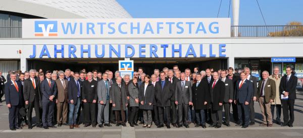 Die Delegation der VR Bank HessenLand